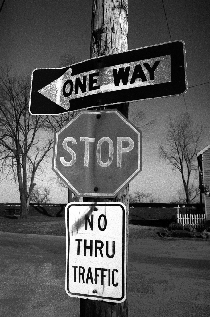 Signs On Signs, b&w, 1986