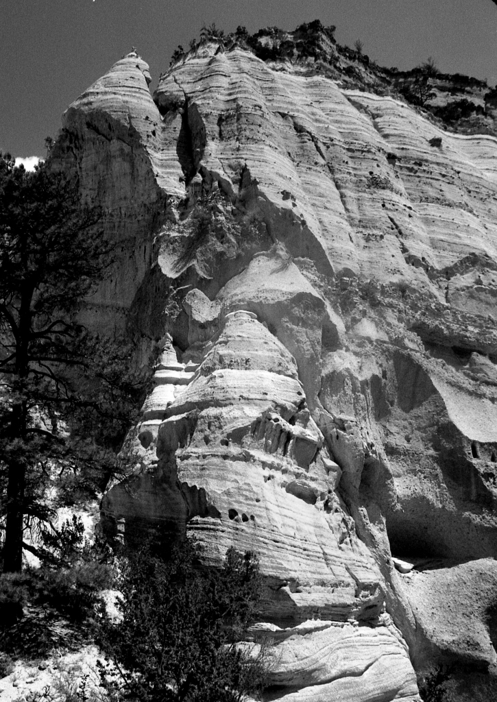 Crags, New Mexico, b&w, 2002